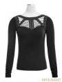 Black Gothic Punk Spider Bandage T-Shirt for Women