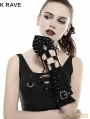 Black Handsome Cross Spike Steampunk Gloves