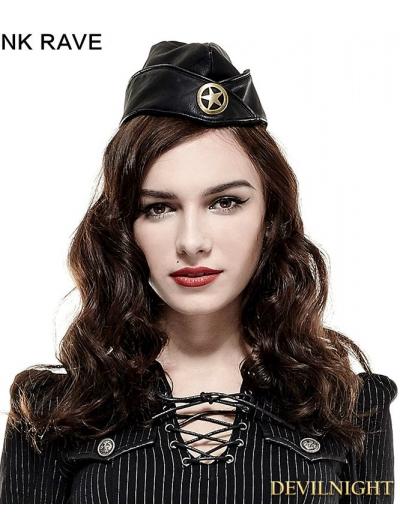 Black Military Uniform Hat