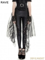 Black Gothic Mesh Swallow-Tail Dress