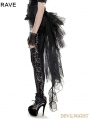 Black Gothic Mesh Swallow-Tail Dress
