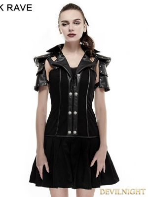 Black Armor Handsome Military Uniform Dress
