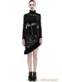 Black Steampunk Flounce Skirt