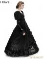 Black Big Swing Gothic Long Dress