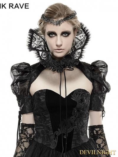 Black Metal Flower Gothic Collar