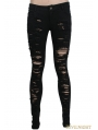 Black Gothic Punk Denim Trousers