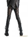Black and Bronze Leather Gothic Punk Pants for Women