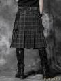 Plaid Gothic Punk Skirt for Men
