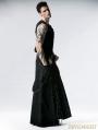 Black Gothic Punk Heavy Metal Long Skirt for Men