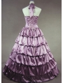 Purple Simple Masquerade Gothic Ball Gowns