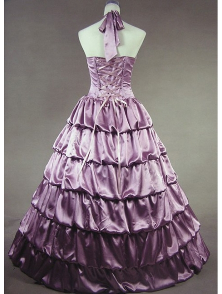 Purple Masquerade Dresses Simple Vintage