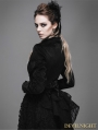 Black Gothic Swallow Tail Short Jacket for Women