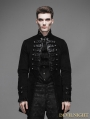 Black Double-Breasted Gothic Palace Style Coat for Men