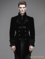 Black Vintage Gothic Swallow Tail Jacket for Men