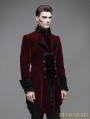 Red Vintage Gothic Swallow Tail Jacket for Men