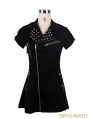 Black Short Sleeves Gothic Punk Sexy Dress