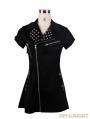 Black Short Sleeves Gothic Punk Sexy Dress