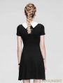 Black Short Sleeves Hepburn Style Gothic Dress