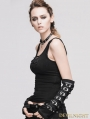 Black Buckle Belt Gothic Punk Long Gloves