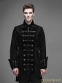 Vintage Black Double-Breasted Gothic Palace Coat for Men