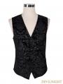 Black Royal Pattern Gothic Vest for Men