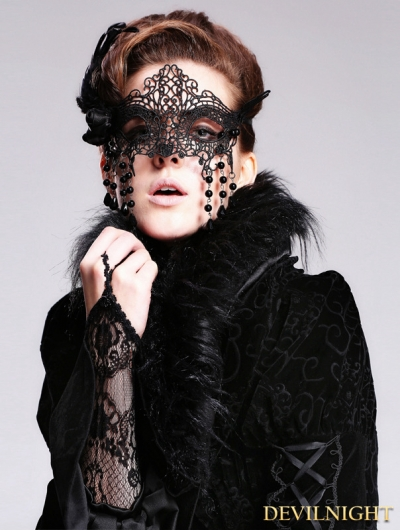 Black Lace Pendant Gothic Mask