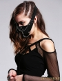 Black Gothic Punk Buckle Belt Chain Mask
