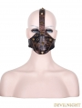 Brown Leather Rivet Steampunk Mask