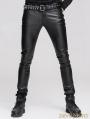 Devil Fashion Black Tight Gothic Leather Pants for Men