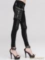 Devil Fashion Black Pocket Gothic Punk Pants for Women