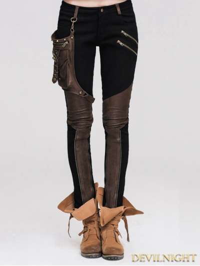 Steampunk Pants with Coffee Pocket for Women