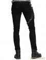 Devil Fashion Black Pocket Gothic Punk Pants for Men