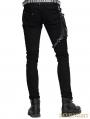 Devil Fashion Black Pocket Gothic Punk Pants for Men