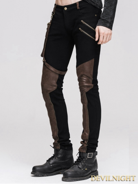 Steampunk Pants With Coffee Pocket For Men Devilnight Co Uk