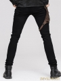 Devil Fashion Steampunk Pants with Coffee Pocket for Men