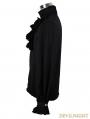 Devil Fashion Black Flounce Tie Gothic Blouse for Men