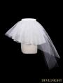 Devil Fashion White Tulle Short Gothic Skirt
