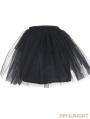 Devil Fashion Black Multilayer Tulle Short Gothic Skirt