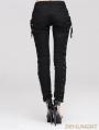 Devil Fashion Black Lace-up Gothic Pants for Women