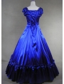 Blue and Black Classic Gothic Victorian Dress