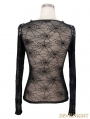 Devil Fashion Black Cobweb Gothic T-shirt for Women