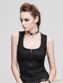 Devil Fashion Black Gothic Sexy Top for Women