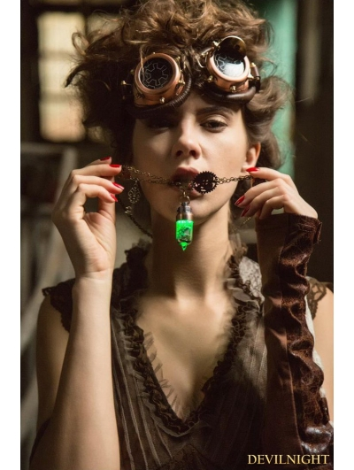 Bronze Vintage Gothic Steampunk Pendant Necklace