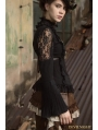 Black Steampunk Lace Long Sleeve Blouse for Women
