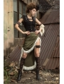 Black Steampunk Leather Cape for Women