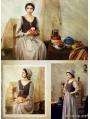 Vintage Medieval Two Piece Set Dress