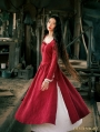 Red Long Sleeves Medieval Inspired Dress