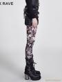 Gothic Coffee Skull Pattern Legging for Women