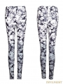 Gothic Black Skull Pattern Legging for Women