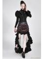 Brown Irregular Steampunk Skirt